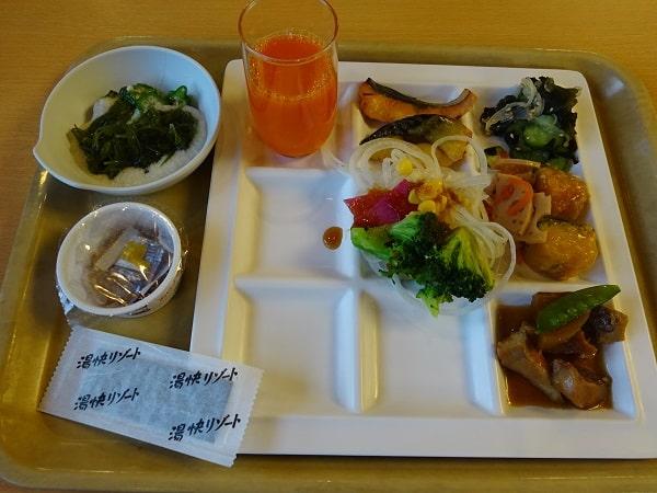 湯快リゾート三好屋のバイキング料理(朝食)
